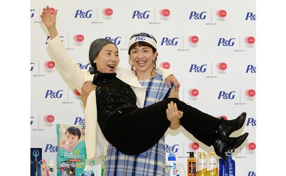 JOC・P&G「ママと選手の絆トークショー」  浜口京子選手が「ありがとう!」3連発