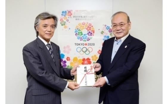 電通   日本障がい者スポーツ協会に寄付金贈呈