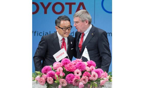 トヨタ   IOCのTOPパートナーに決定!   自動車会社で初