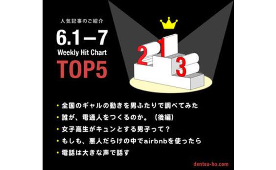 【人気記事TOP5】 6月8日~15日