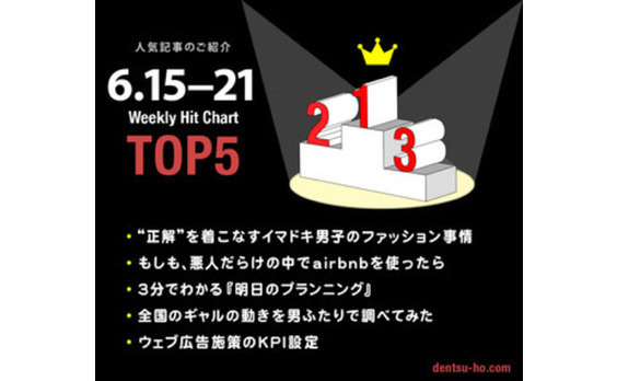 【人気記事TOP5】6月15日~21日