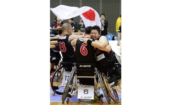 車椅子バスケット男子 に大声援  リオへの切符を獲得!