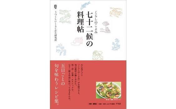 28万ダウンロードの人気アプリ「くらしのこよみ」から 料理レシピブック『くらしのこよみ 七十二候の料理帖』を発売