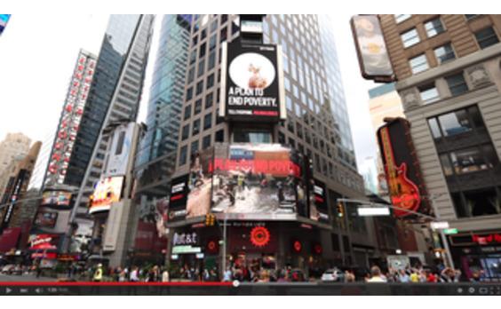 映画監督リチャード・カーティス氏の「プロジェクト・エブリワン」  世界最大規模のOOHキャンペーンでポスタースコープが協働
