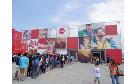 リオ大会で、コカ・コーラの パビリオンが大人気