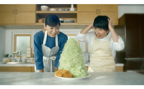 三菱電機テレビCM   最新作はキャベツが山盛り!