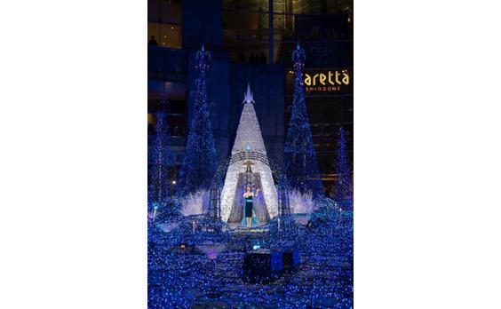 今年もカレッタ汐留に 「青い精霊の森」が出現