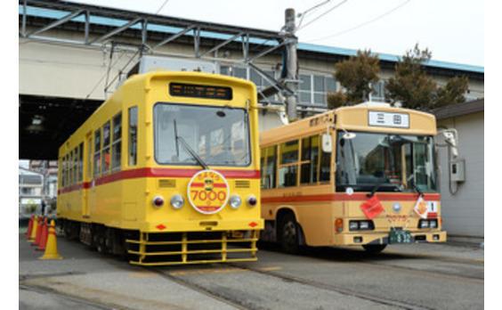 たくさんの思い出を残し、 都電7000形が引退   記念ラッピングバスを運行