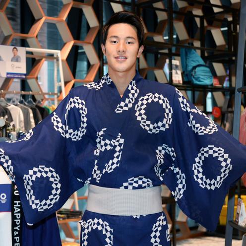 浴衣姿の瀬戸大也選手、2020年大会への決意を表明