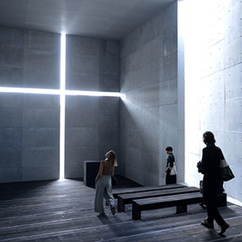 建築家・安藤忠雄氏の展覧会「挑戦」が開幕   名作「光の教会」の原寸展示も