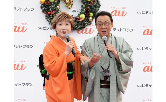 auピタットキャラバン   渋谷の中心で「愛の歌」熱唱
