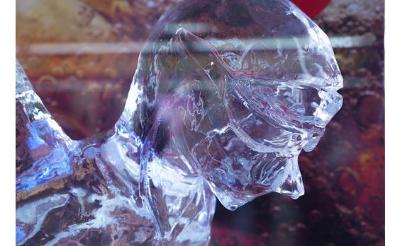 コカ・コーラ 平昌オリンピックのハイライトシーンを氷像で再現