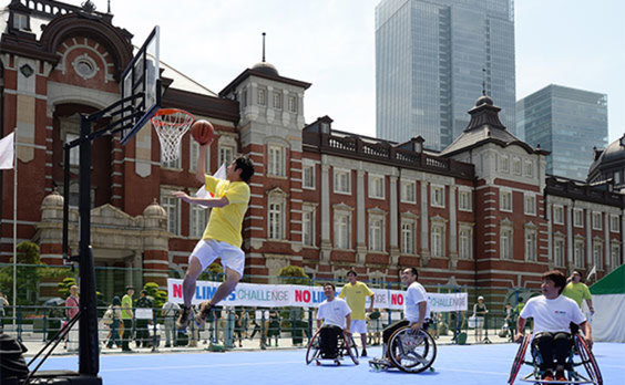 東京の真ん中で パラ競技PRイベント開催