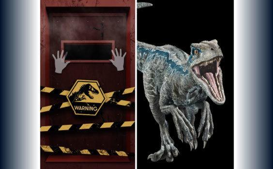 大迫力の恐竜が六本木駅に出現! 体験型OOH広告「ジュラシック・ピラー」