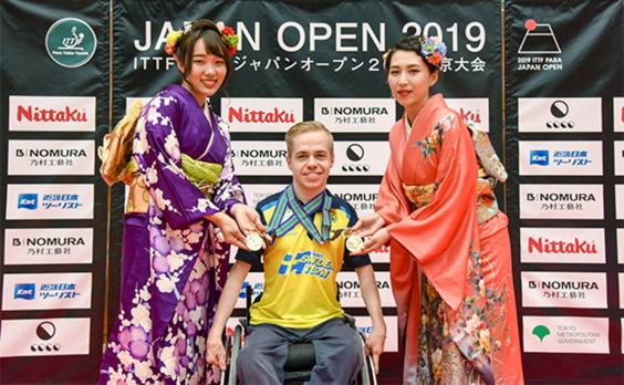 パラ卓球の国際大会  日本初開催  世界のトップ選手が熱戦