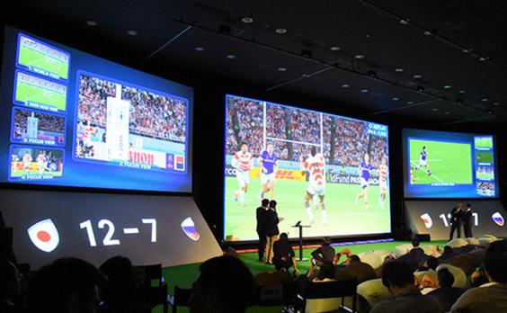 ラグビーW杯を5G観戦 手元の端末で多視覚映像を楽しむ