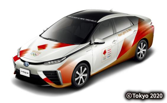 東京オリンピック聖火リレー  伴走車のデザインを発表