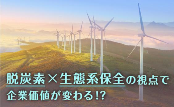 脱炭素に「生態系保全」の視点を加えると、企業の価値はどう変わる!?