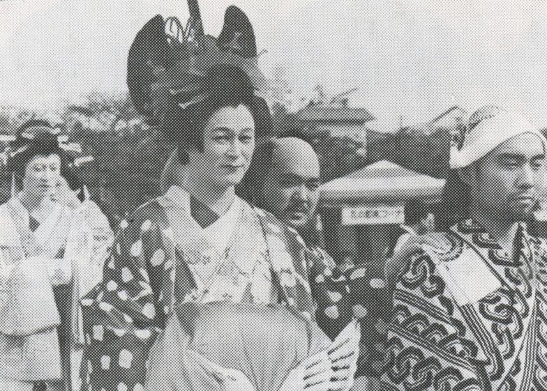 電通祭の仮装パレードで、おいらんに扮した内藤