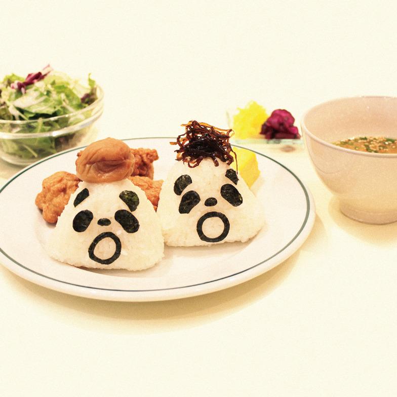 限定メニュー「パンダのおにぎり&お茶漬けセット」