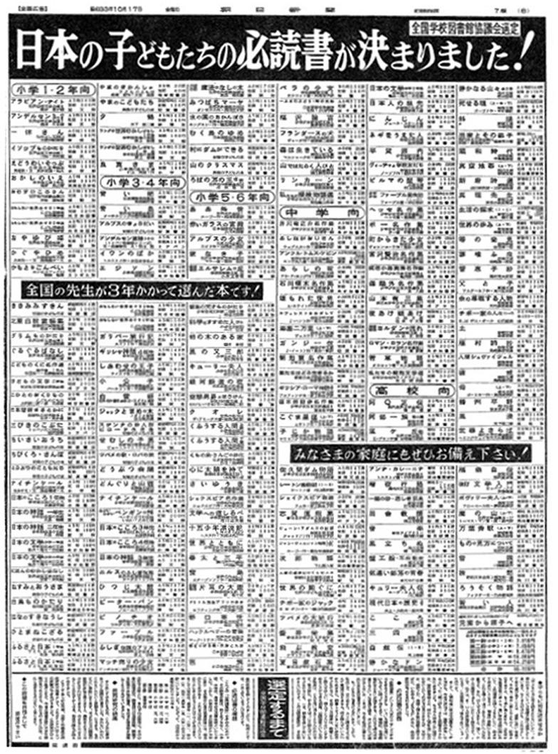 昭和33年10月17日朝日新聞朝刊の全ページ書籍連合広告