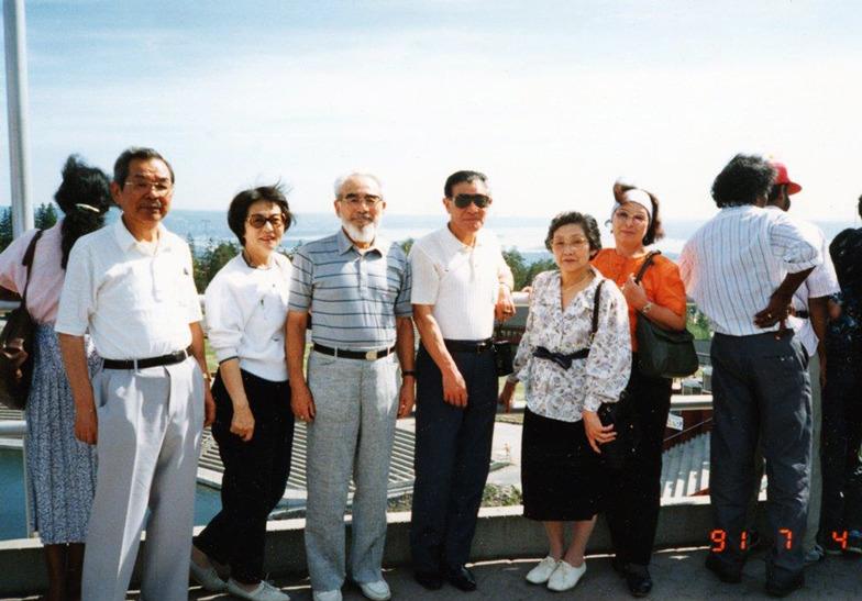 吉岡夫妻、中森夫妻との旅行写真