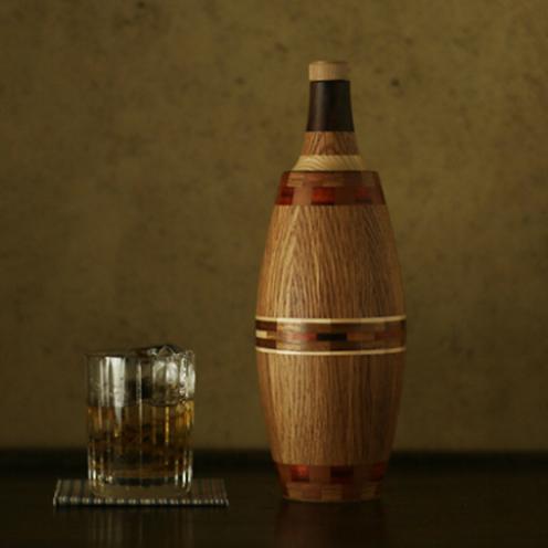 【新潟】木製のウイスキーボトルを作る。