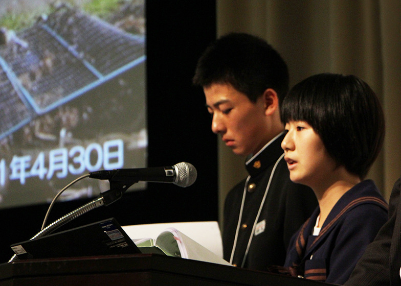 大谷中学校生徒によるプレゼンテーション
