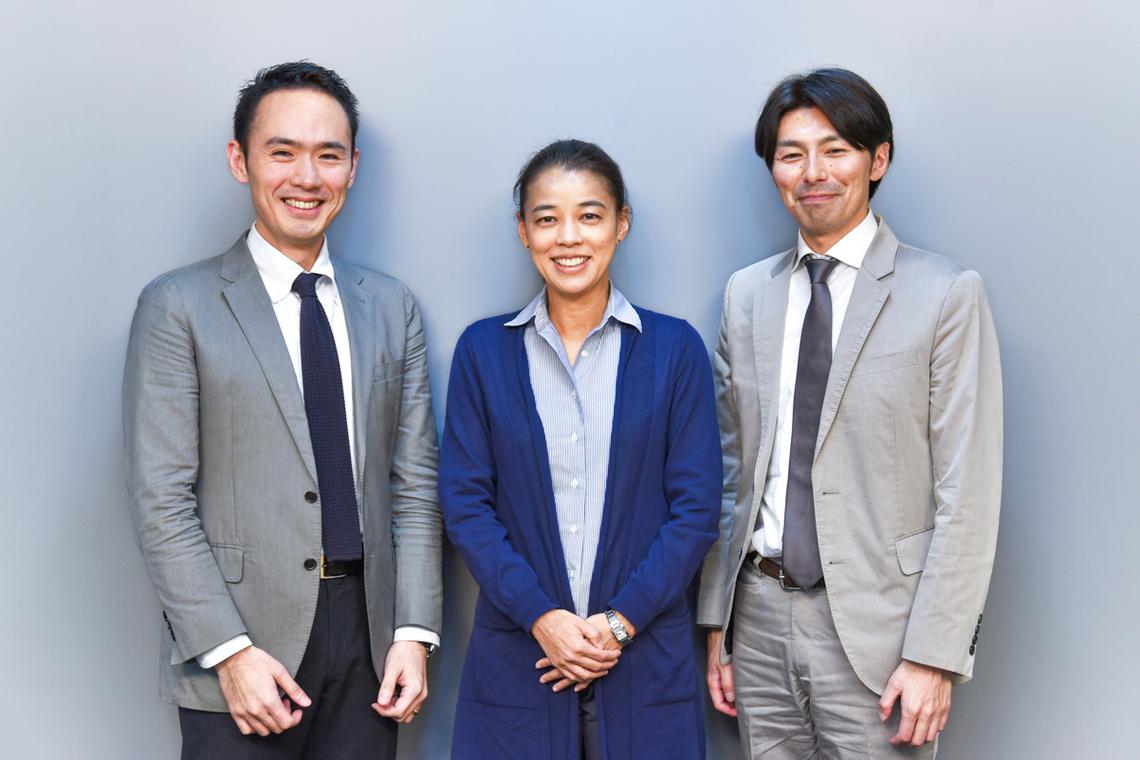 (左から)青木さん、郡司さん、内藤さん