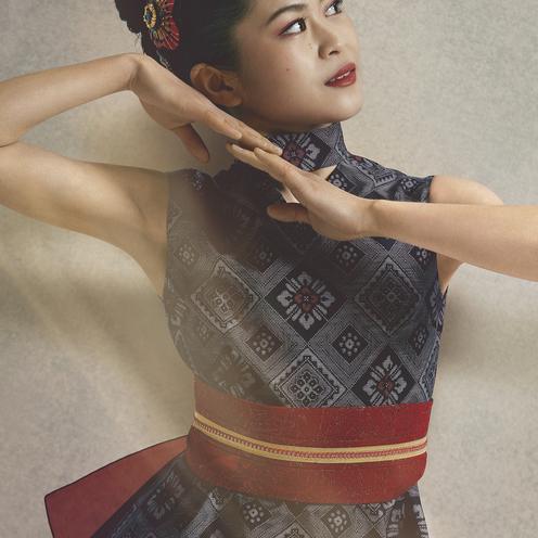 【奄美大島】大島紬を着たフィギュア女王。