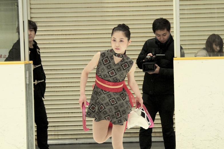 大島紬の衣装がぴったり! よかった…