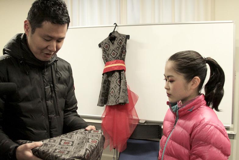 「大島紬の衣装、どうでしたか…?」