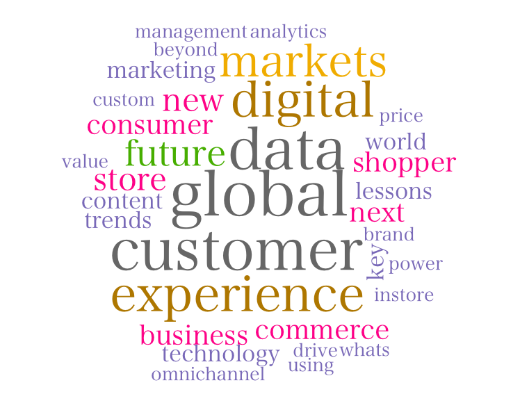 「Consumer Experience(Consumer Centric)」「Big Data」「Personalization」「In Store」「Mobile」