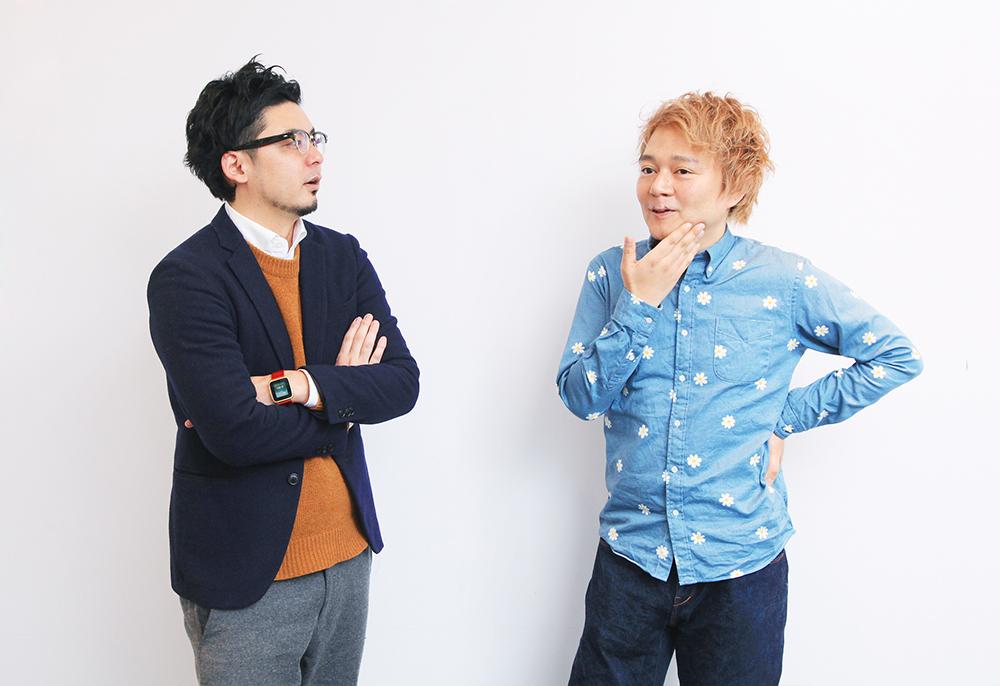 (左から)イノラボの阿部元貴さん、デイリーポータルZの林雄司編集長