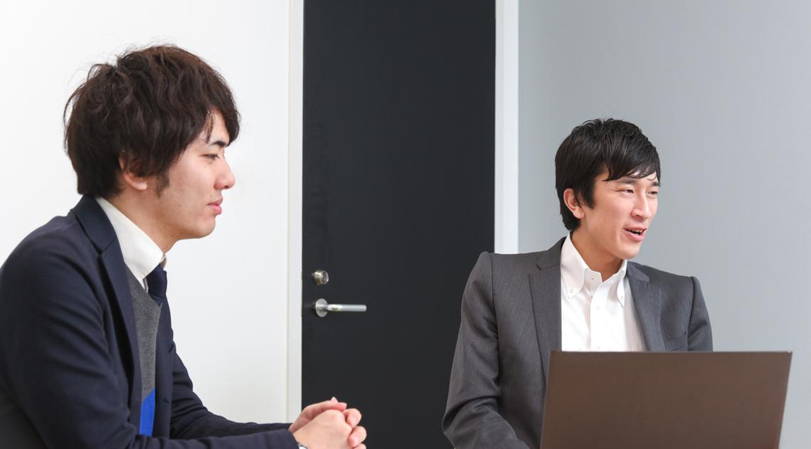 ネクステッジ電通の齋藤優さんと伊勢田健介さん