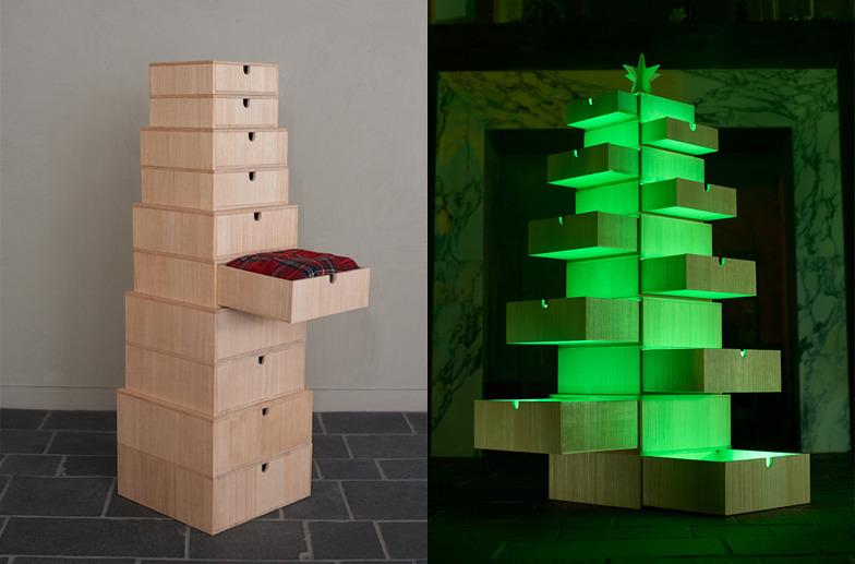 #07【香川】桐箱でつくるクリスマスツリー。