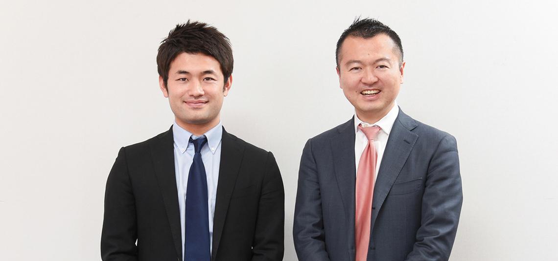 (左から)電通の村山亮太さん、Teads Japan代表の田中洋一さん
