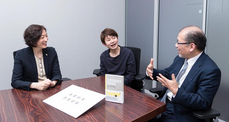 大熊氏、池田氏、森口氏の対談風景