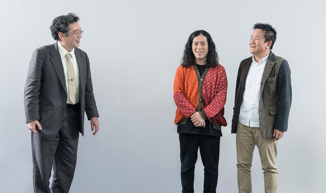 左から、松原仁氏(公立はこだて未来大学 教授)、又吉直樹氏(お笑い芸人/作家)、吉崎圭一氏(電通)
