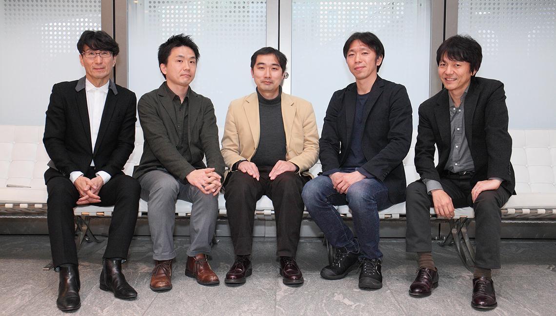 (左から)小川氏、立花氏、岡田氏、加賀谷氏、澤田氏
