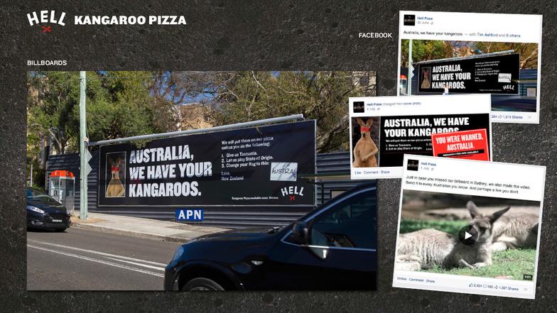 「レストラン」部門シルバー/Hell Pizza社「Holding Australia To Ransom」