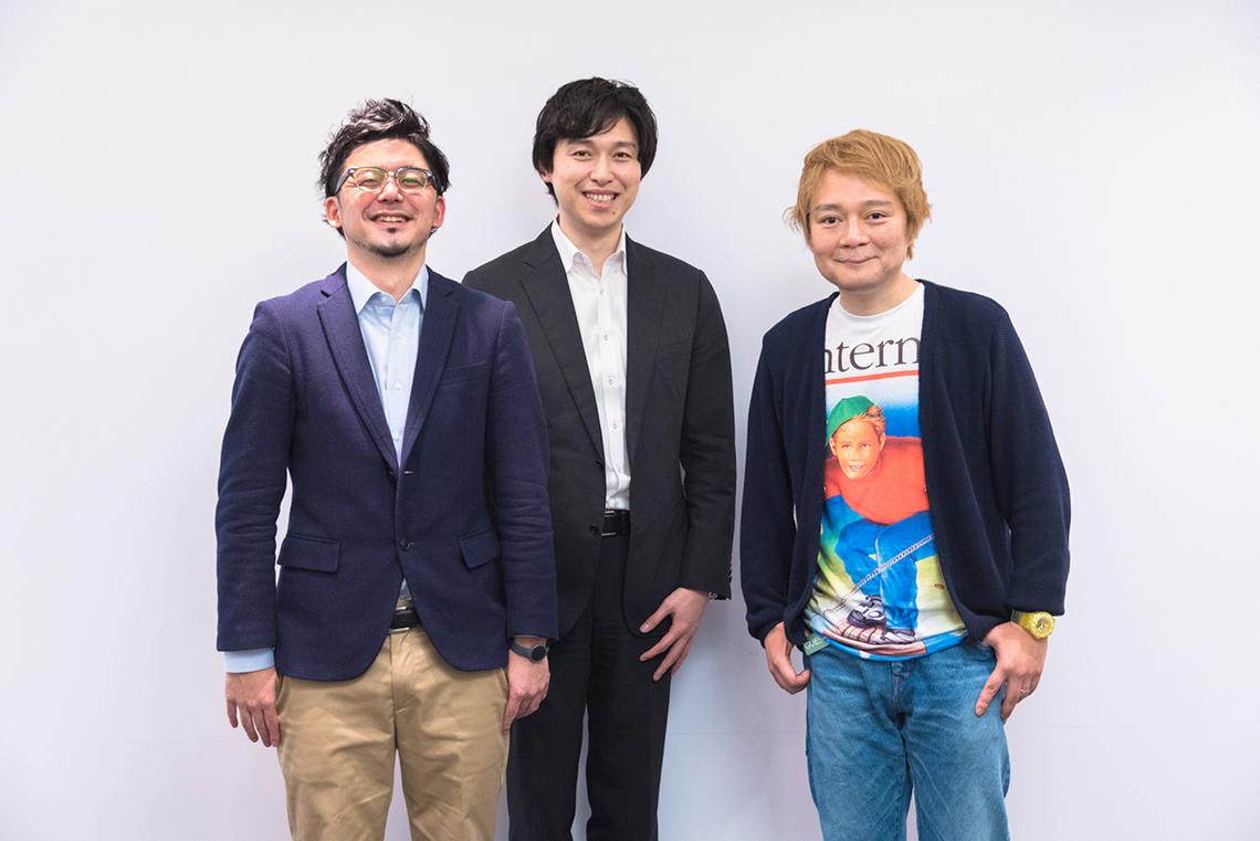 (左から)イノラボの阿部元貴さん、野崎和久さん、デイリーポータルZの林雄司編集長