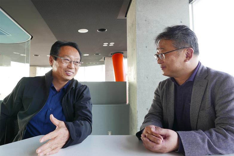 岡田氏と林氏