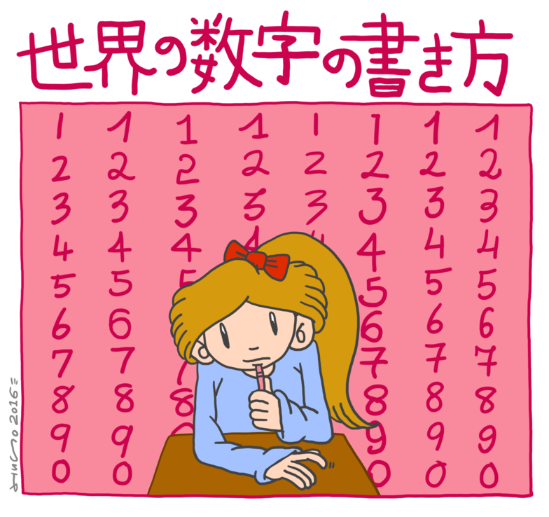 世界の数字の書き方
