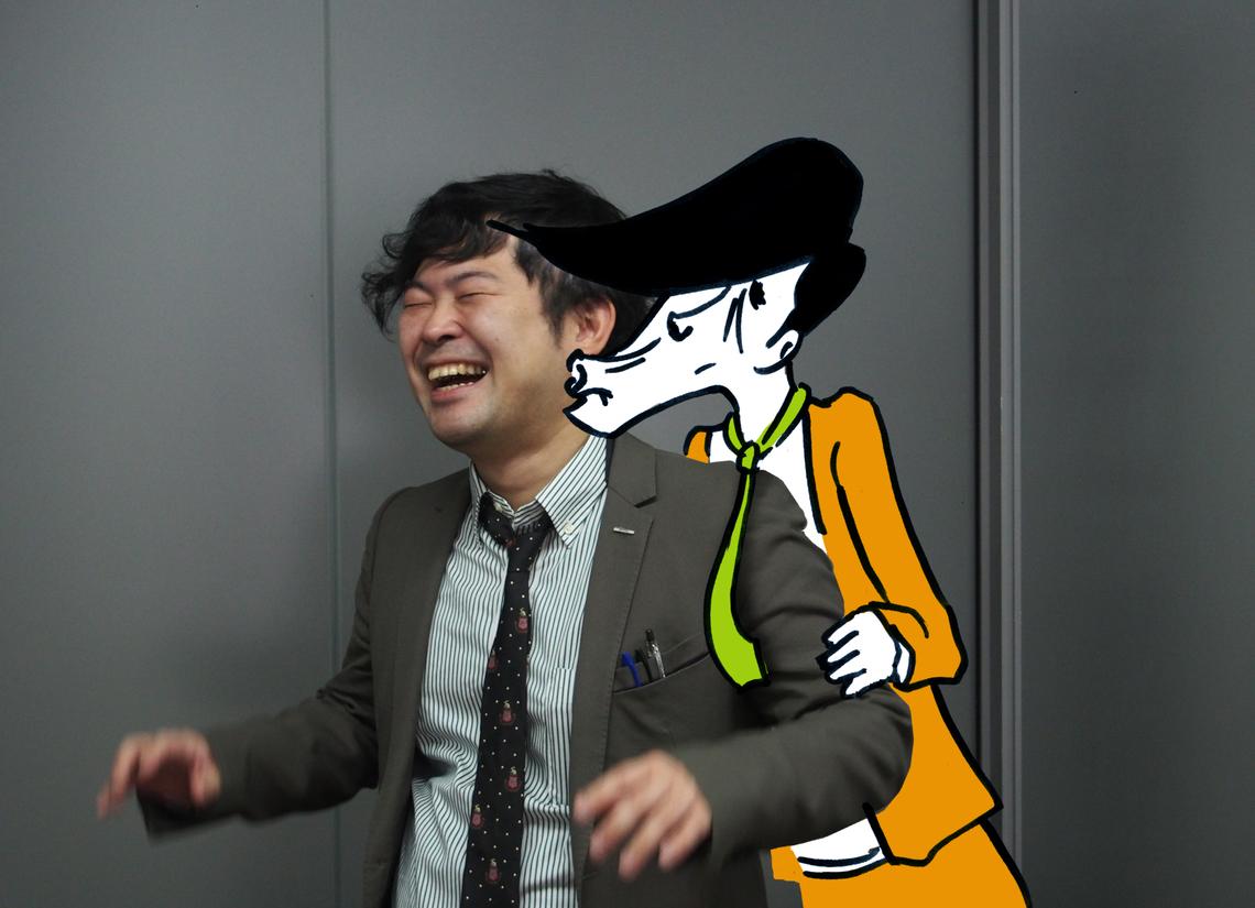 上原氏とキメゾー