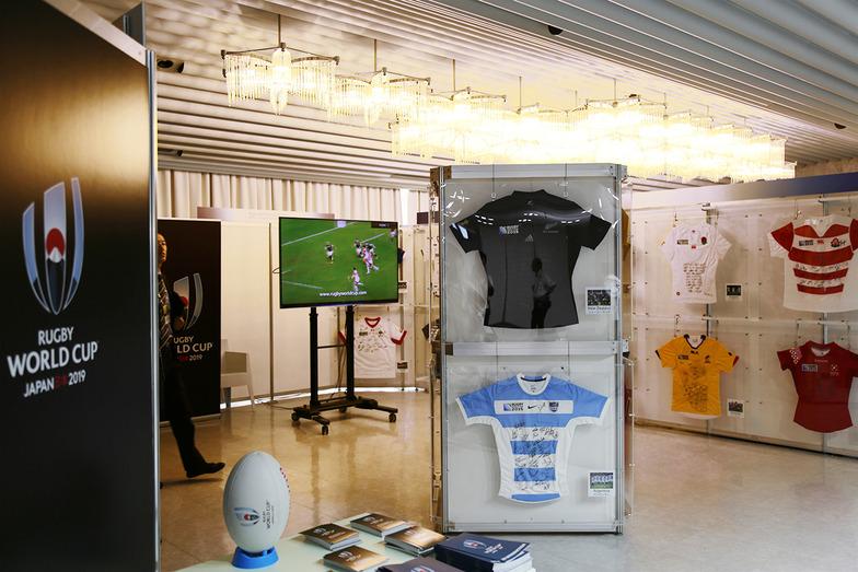 ラグビーワールドカップ2019の展示
