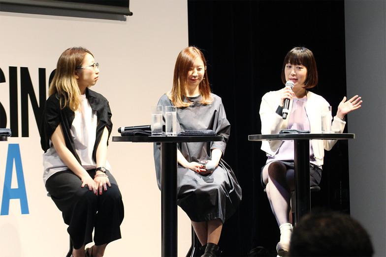 左から、上西祐理さん、吉田ユニさん、えぐちりかさん#女性は強い