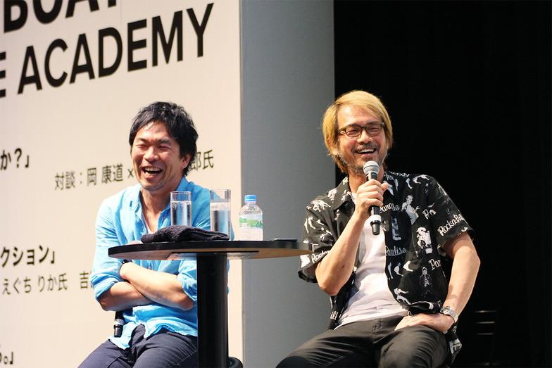 TUGBOATの麻生さん(左)、多田さんが進行役を務めるも、個性あふれるゲストたちをまとめるのは至難の業?!