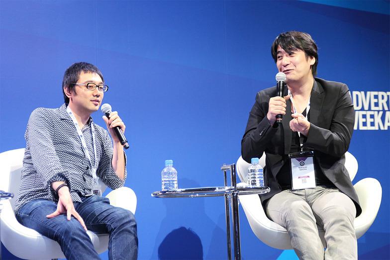 漫画、テレビと、それぞれの世界で新しい熱狂を作り出した 次世代メディアマンの佐渡島庸平さん(左)と佐久間宣行さん。#ルールチェンジャー