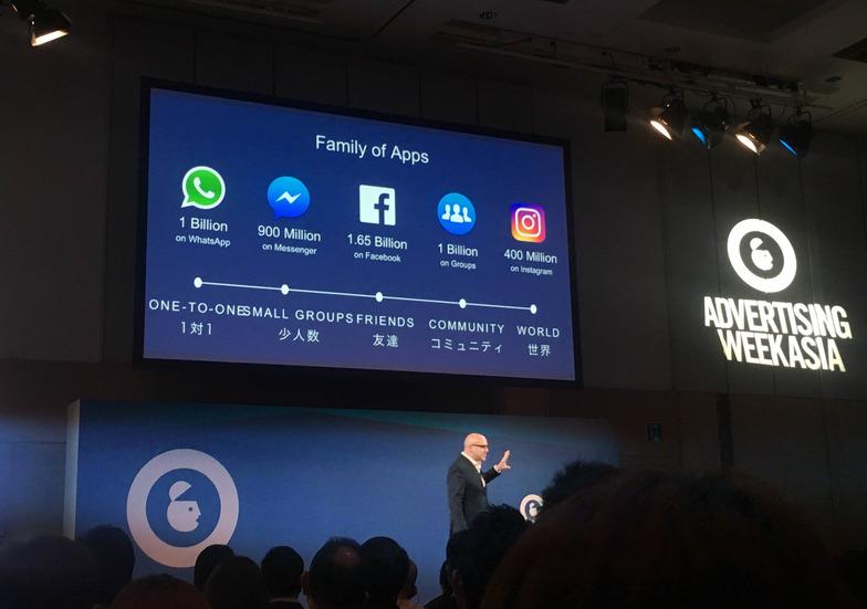 Facebook アジア太平洋担当バイスプレジデントのダン・ニアリー氏。Facebookのマーケティング活用について力説した